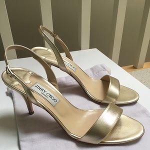 Jimmy Choo metallic heels... LOVELY!